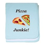 Pizza Junkie baby blanket