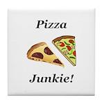 Pizza Junkie Tile Coaster