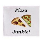 Pizza Junkie Throw Blanket