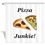 Pizza Junkie Shower Curtain