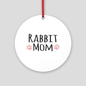 Rabbit Mom Ornament (Round)