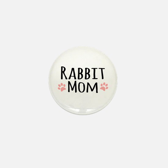 Rabbit Mom Mini Button