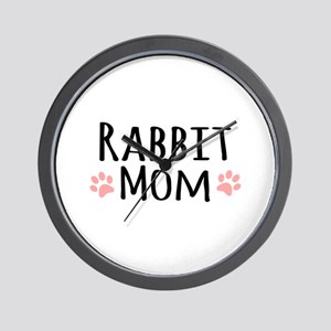Rabbit Mom Wall Clock