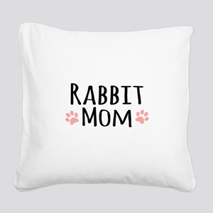 Rabbit Mom Square Canvas Pillow