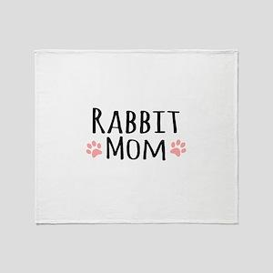 Rabbit Mom Throw Blanket