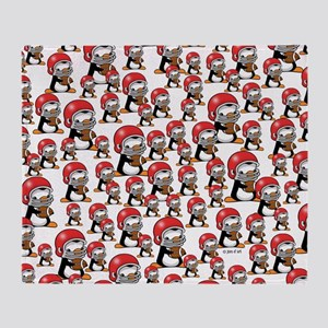 Rugby Penguin Throw Blanket