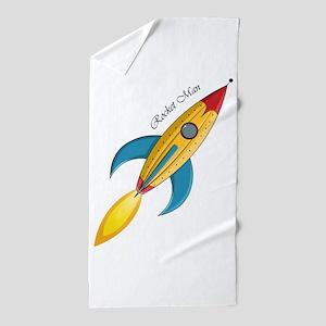 Rocket Man Rocket Ship Beach Towel