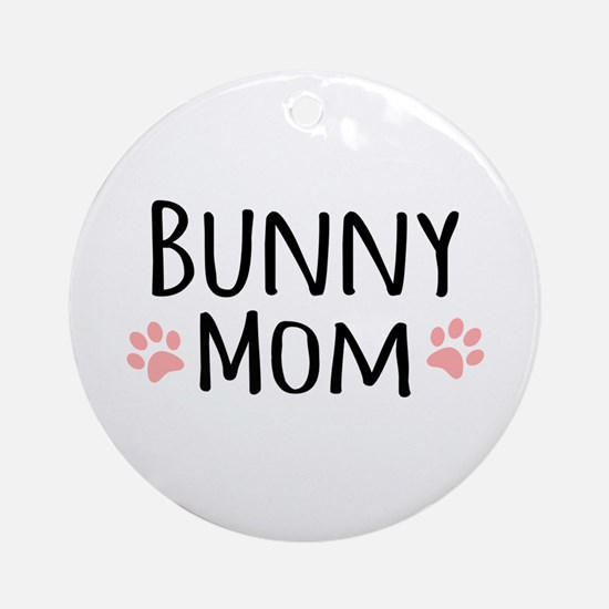 Bunny Mom Ornament (Round)
