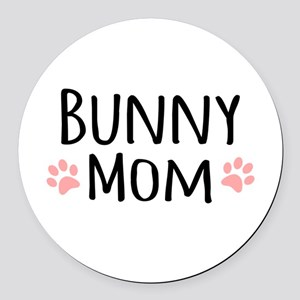 Bunny Mom Round Car Magnet