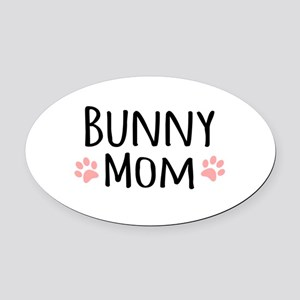 Bunny Mom Oval Car Magnet