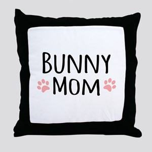Bunny Mom Throw Pillow