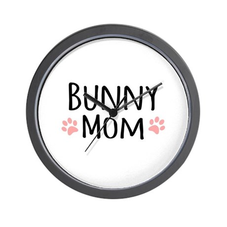 Bunny Mom Wall Clock
