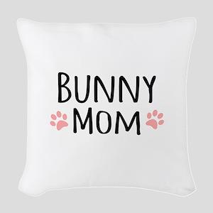 Bunny Mom Woven Throw Pillow