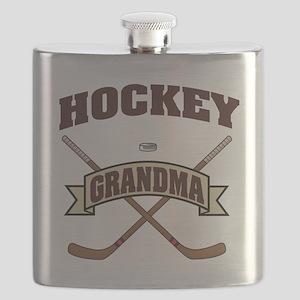 Hockey Grandma Flask