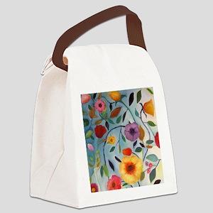GARDEN FLOWERS Canvas Lunch Bag