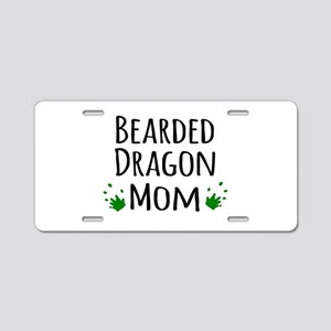 Bearded Dragon Mom Aluminum License Plate