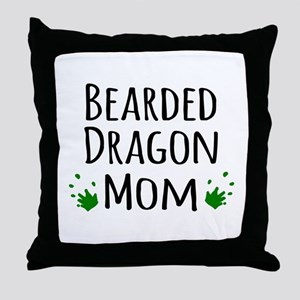 Bearded Dragon Mom Throw Pillow