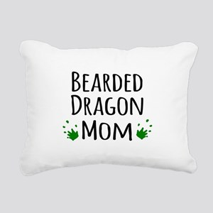 Bearded Dragon Mom Rectangular Canvas Pillow
