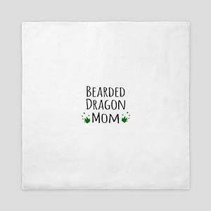 Bearded Dragon Mom Queen Duvet
