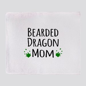 Bearded Dragon Mom Throw Blanket