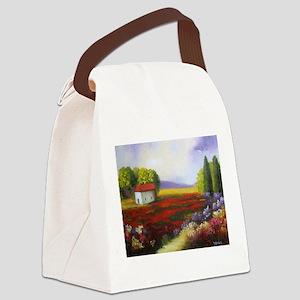 LANDSCAPE PAINTING Canvas Lunch Bag