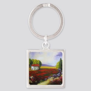 LANDSCAPE PAINTING Square Keychain