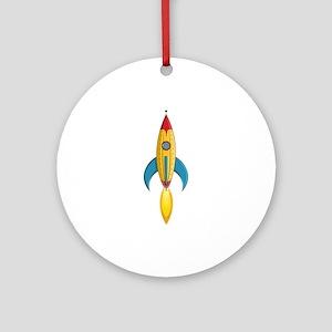 Rocket Ship Ornament (Round)