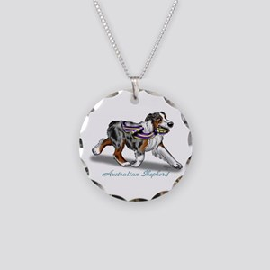 Australian Shepherd Blue Merle Necklace