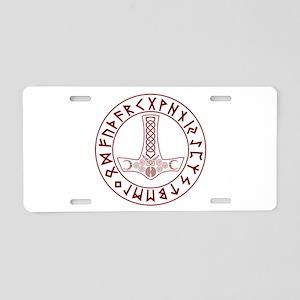 Mjölnir Rune Shield Aluminum License Plate