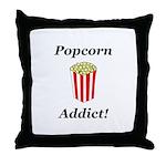 Popcorn Addict Throw Pillow