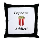 Popcorn Addict Throw Pillow