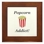 Popcorn Addict Framed Tile