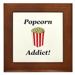Popcorn Addict Framed Tile
