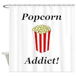 Popcorn Addict Shower Curtain