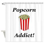 Popcorn Addict Shower Curtain