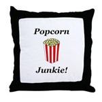 Popcorn Junkie Throw Pillow