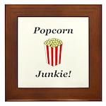 Popcorn Junkie Framed Tile