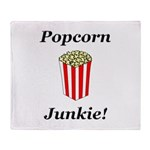 Popcorn Junkie Throw Blanket