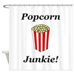 Popcorn Junkie Shower Curtain