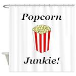 Popcorn Junkie Shower Curtain