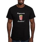 Popcorn Junkie Men's Fitted T-Shirt (dark)