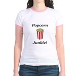 Popcorn Junkie Jr. Ringer T-Shirt