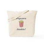 Popcorn Junkie Tote Bag