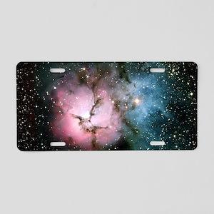 Nebula galaxy of stars in s Aluminum License Plate