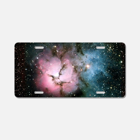 Nebula galaxy of stars in s Aluminum License Plate