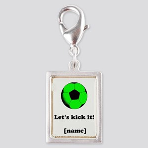 Personalized Lets kick it! - GREEN Charms