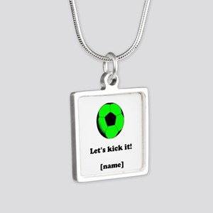Personalized Lets Kick It! - GREEN Necklaces