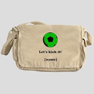 Personalized Lets kick it! - GREEN Messenger Bag