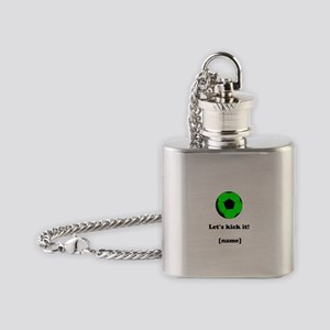 Personalized Lets kick it! - GREEN Flask Necklace