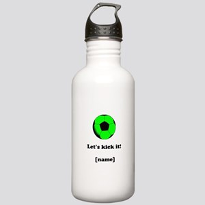 Personalized Lets kick it! - GREEN Sports Water Bo